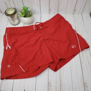 ONeill Bright Red Short Board Shorts Swim Trunks
